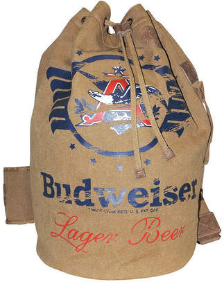 Buxton Budweiser Eagle Wings Collection Drawstring Bucket Backpack