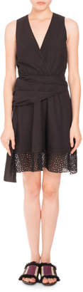 Proenza Schouler Sleeveless V-Neck Cotton Dress