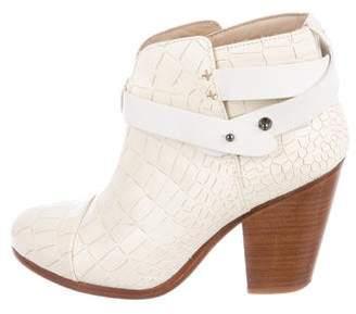 Rag & Bone Embossed Harrow Ankle Boots
