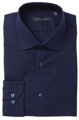 Tommy Hilfiger Mini Houndstooth Twill Slim Fit Dress Shirt