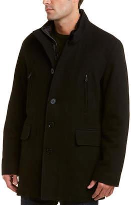 Cole Haan Wool-Blend Twill Coat
