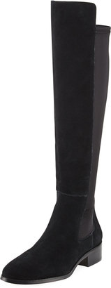 Donald J Pliner Nera 2 Suede Over-the-Knee Boot, Black $279 thestylecure.com