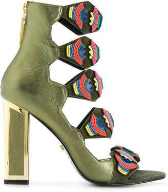 Kat Maconie Thea beaded sandals