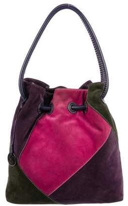Donald J Pliner Patchwork Suede Bucket Bag
