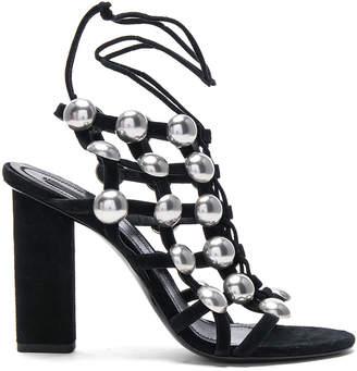 Alexander Wang Suede Rubie Sandals in Black | FWRD