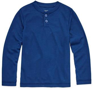 Arizona Long Sleeve Pajama Top-Big Kid Boys Husky