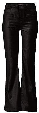 7 For All Mankind Jen7 by Women's Velvet Tailored Flared Trousers
