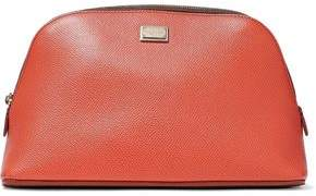 Dolce & Gabbana Two-Tone Textured-Leather Cosmetics Case