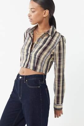 Urban Outfitters Suki Shrunken Flannel Top