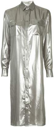 Ralph Lauren straight metallic shirt dress