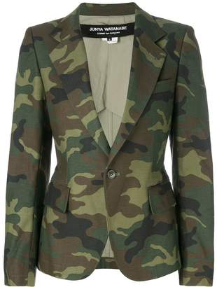 Junya Watanabe camouflage blazer