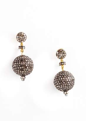 Vinesh Large Diamond Ball Earrings