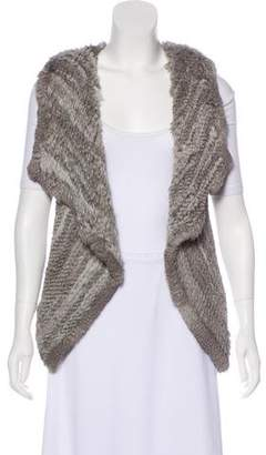 Yves Salomon Draped Fur Vest