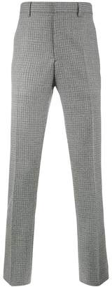 Calvin Klein side stripe checked trousers