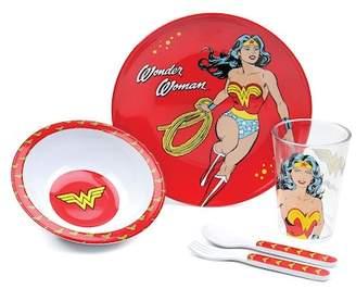 Bumkins Wonder Woman 5-Piece Mealtime Set