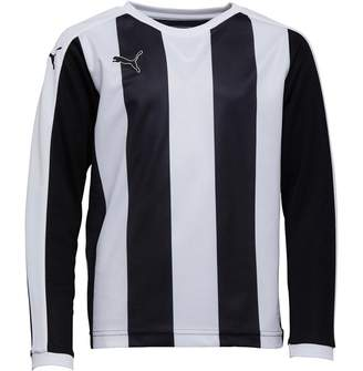 Puma Junior Boys Striped Long Sleeve Shirt Black/White