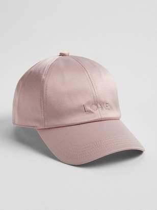 Gap Logo Satin Baseball Hat