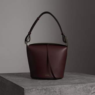 Burberry The Medium Leather Bucket Bag, Red