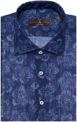 Robert Talbott Tailored Fit Floral Linen Dress Shirt