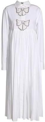 Dolce & Gabbana Bow-Embellished Cotton-Blend Poplin Midi Dress