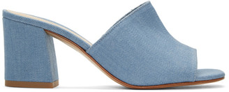 Maryam Nassir Zadeh Blue Denim Mar Mules $385 thestylecure.com