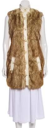 Rachel Zoe Faux Fur Longline Vest