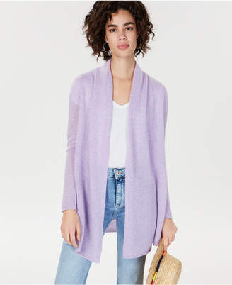 Charter Club Rolled-Edge Pure Cashmere Cardigan