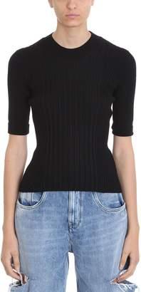 Maison Margiela Black Ribbed Wool Sweater