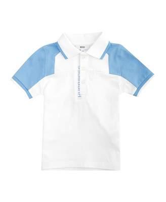HUGO BOSS Kids Contrast Tip And Sleeve Polo