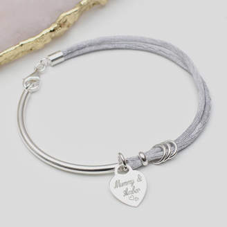 186ec4e5aa16 Hurleyburley Personalised Silk And Sterling Silver Charm Bangle