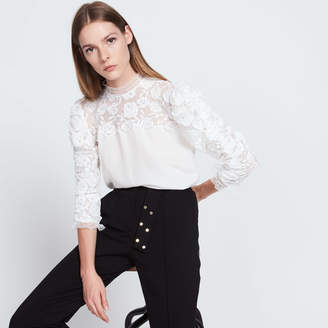 Sandro Floral lace top