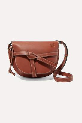 Loewe Gate Small Leather Shoulder Bag - Brown
