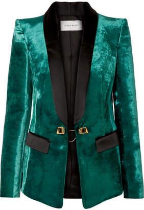 Murad Zuhair Satin-trimmed Velvet Tuxedo Blazer - Emerald