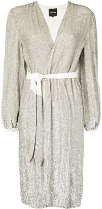 retrofete sequin wrap dress