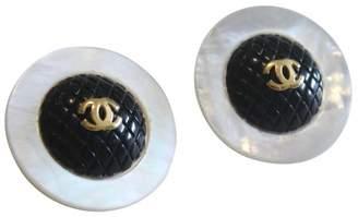 Chanel CC Black Pearls Earrings