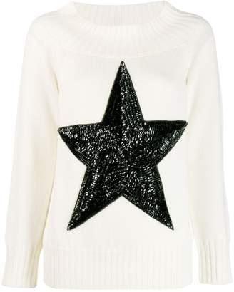 P.A.R.O.S.H. sequin star jumper