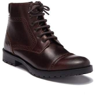 GBX Bock Leather Cap Toe Lace-Up Boot
