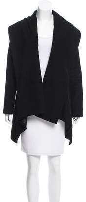 Nellie Partow Asymmetrical Open Front Coat