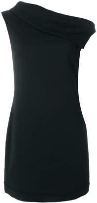 Helmut Lang asymmetric collar dress
