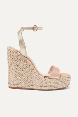 c8906efc6 Sophia Webster Lucita Metallic Leather Espadrille Wedge Sandals