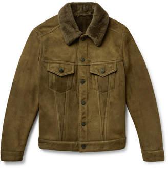 Valstar Slim-Fit Shearling Trucker Jacket