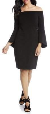 Karen Kane Bell Sleeve Off-the-Shoulder Dress