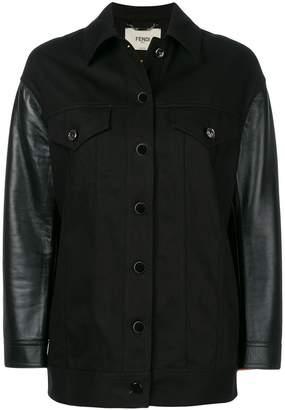 Fendi Karlito-embroidered denim jacket