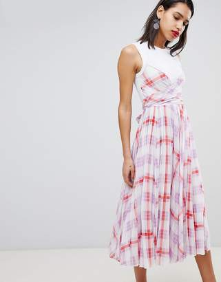 Sportmax CODE Code Check Midi Dress
