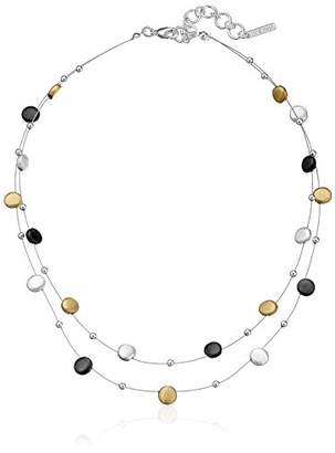 Nine West Classics Tri-Tone Double Row Adjustable Illusion Necklace