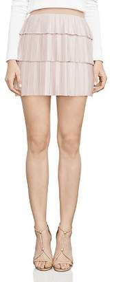 BCBGMAXAZRIA Zana Pleated Mini Skirt