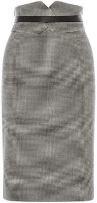 Karen Millen Dogtooth Pencil Skirt