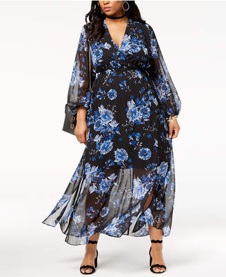 INC International Concepts I.N.C. Plus Size Floral-Print Maxi Dress, Created for Macy's