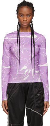 Danielle Cathari SSENSE Exclusive Purple Emblazoned Long Sleeve T-Shirt