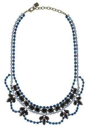 Dannijo Viktor Crystal Mini Bib Necklace